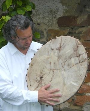 Enrico Eulzer Deutschland mit seiner Trommel